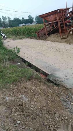 安徽阜阳出售100吨地磅 16000元