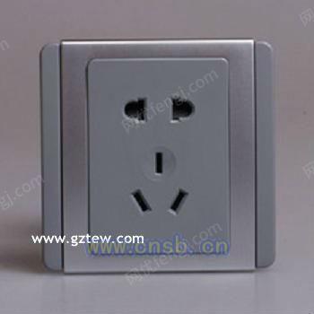 出售施耐德都會灰銀色一位開關二三極插座