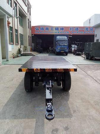 南工2吨平板车 全挂车订制