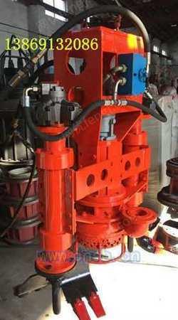 挖掘机安装搅拌灰浆泵泥浆泵