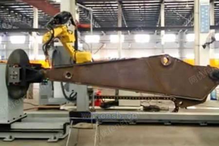 挖掘机斗杆的机器人焊接系统