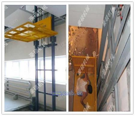 双跨导轨式升降机厂房导轨式升降机