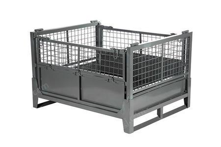 出售金属折叠周转箱仓储笼物流设备