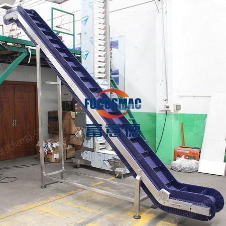 出售皮帶輸送機便攜搬運大傾角輸送機輕型不銹鋼輸送機