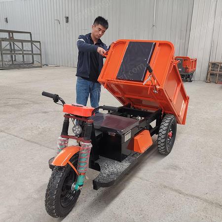 出售工地用三輪車 1噸建筑工程柴油電動拉灰車載重王自卸翻斗