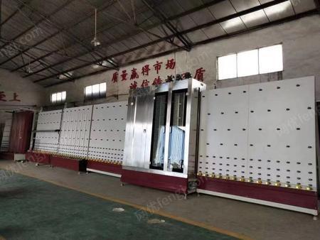 出售中空玻璃立式生产线 全自动清洗烘干板压一条龙生产线
