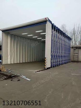 出售鄒平偉航制造移動伸縮房大型移動噴烤房高溫烤漆房汽車打磨房