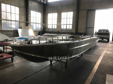 出售铝合金快艇5.2米工作艇钓鱼艇船小型铝船