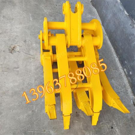 出售挖机抓木器夹木机 小型抱夹机械 挖掘机抓钢机 挖机属具