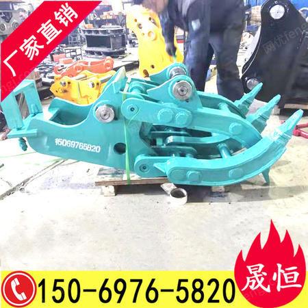 出售80挖掘机抓木器 75挖机快换 挖机夹石头的夹子 柳工906c