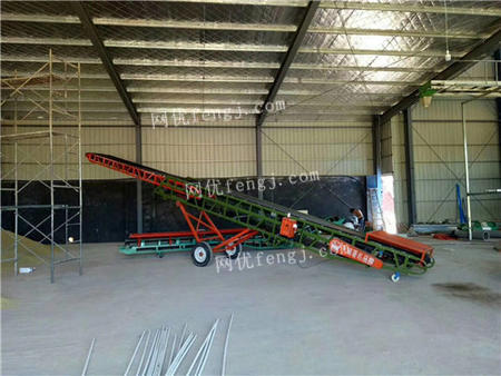 出售小麥升降皮帶輸送機 幫工可移動玉米裝車輸送機