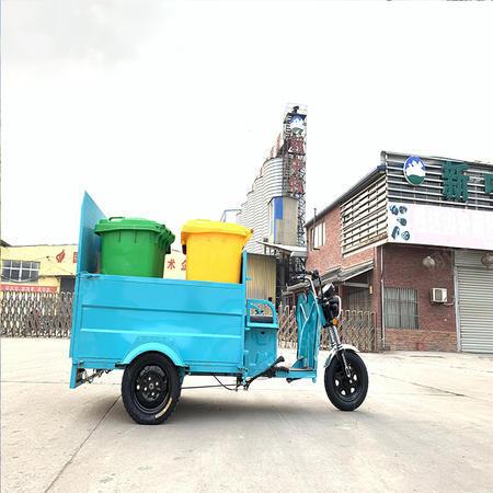 出售電動四桶垃圾清運車物業小區電動三輪垃圾桶轉運車保潔車