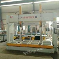 河北沧州低价出售二手木工设备冷压机门锁铣槽机异形砂光机