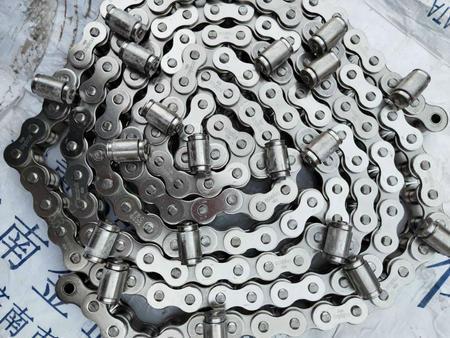 生产双节距输送弯板链条 机械设备链条