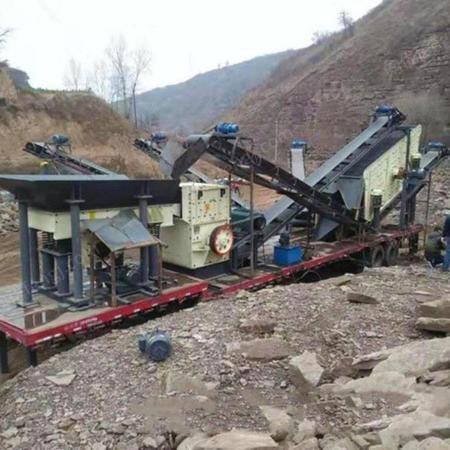 移动式破碎站 河卵石移动制砂机 流动制砂设备 广鑫机械