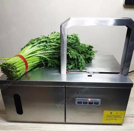 自动化小型捆蔬菜机器 HX-2218型蒜苗打捆机 超市快速绑菜机设备鸿旭机械