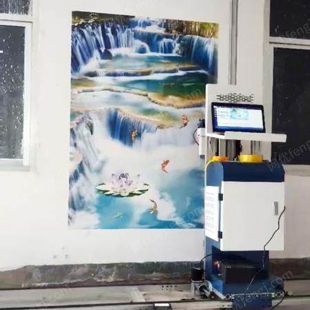 供应3d墙画壁画器全自动墙画喷绘机彩绘机
