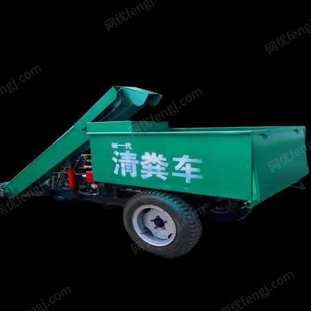 柴油动力电启动清粪机 养牛场专用便捷吸粪设备 小型牛场清粪车的图片