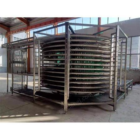 面包螺旋冷却塔厂家 钰盛机械 螺旋冷却塔 蛋糕醒发螺旋冷却塔