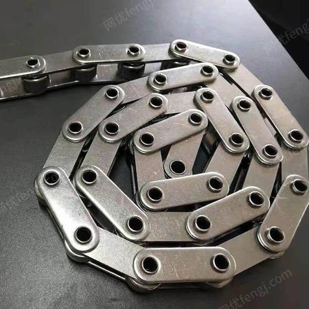 厂家直销304不锈钢链条传动链大滚珠双节距工业输送条 食品级输送链条 凯泽机械设备