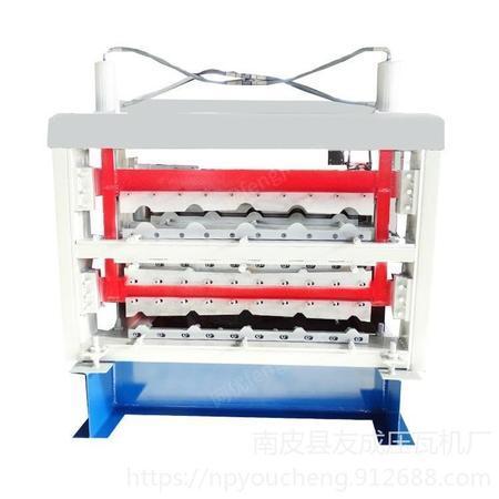 友成机械供应三层压瓦机 彩钢瓦三层机器 彩钢设备 双层压瓦机 节省空间彩钢设备