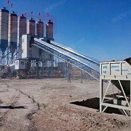 移动式搅拌站 商混设备 混凝土机械设备 鹏飞建机