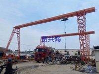 上海泾海起重二手10吨葫芦龙门吊跨度24米出售