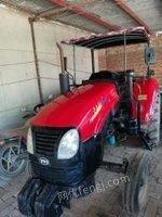 河北保定东方红500带三件农耕机具:旋耕犁 玉米播种机 小麦播种机拖拉机出售