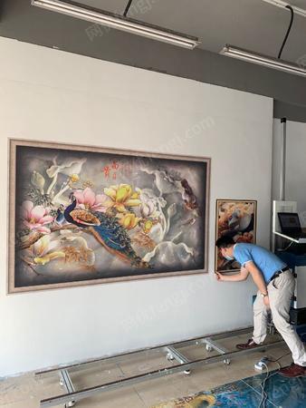 供应全自动壁画3d广告打印机器户外写真机墙绘机
