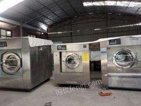 青海西宁回收水洗厂设备二手水洗机烘干机烫平机折叠机送布机