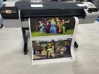 吉林长春惠普hp t1300 大幅面打印机绘图仪,九成新出售