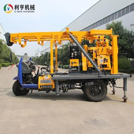供应利亨三轮车载液压岩芯钻机 XYC-200A家用水井钻机 民用打井设备