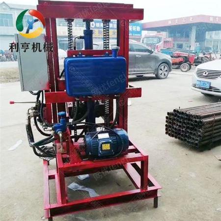 供应深水井三相电液压打井机 小型民用打井设备 120米家庭用水井钻机