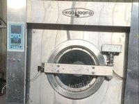 河北石家庄出售二手洗涤设备水洗机烘干机脱水机折叠机烫平机全新炒盐机