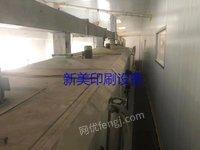 浙江温州出售1台正反两面涂布机1.4米宽十八米烘箱