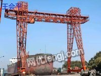 湖北二手60/20吨造船门机起重机跨度26米高26米