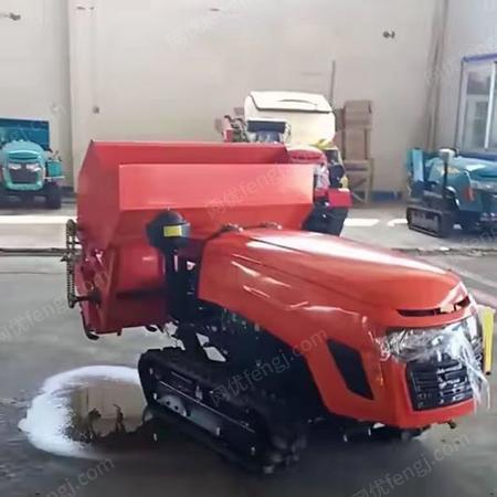 供应遥 控果园多功能自动除草机 大棚履带旋耕机 果树开沟施肥回填机
