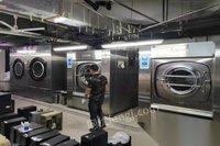 河北石家庄出售二手百强水洗厂设备百强洗脱机烘干机五棍烫平机折叠机