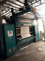 出售二手巨新平网印花机 14套色 有效门幅1800 三层网带蒸汽烘房  2015