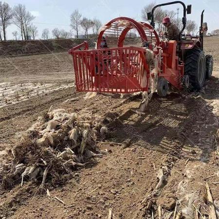 出售全自动农田残膜回收机  悬挂式地膜捡拾机  大型旧膜回收机