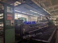 低价急处理二台2米日本 产东伸斜台板圆网印花机,12套色一台,10套色一台