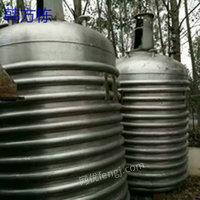 出售2000升二手反应釜、二手冷凝器