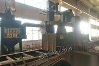 北京朝阳区转让二手Q1414轨道通过式抛丸机脉冲除尘器,6个11的抛头