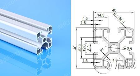 工业铝型材材料及配件规格齐全4080欧标型材