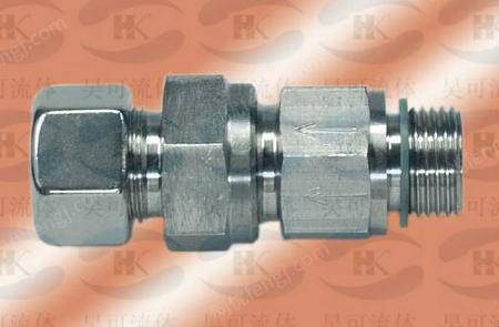 RV端直通单向阀,RV-L35G11/4WD端直通不锈钢单向阀