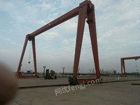 上海宝山区出售1台二手葫芦龙门吊16T跨度25.5米