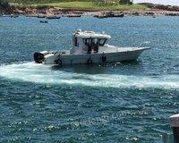 山东青岛出售 各种新旧玻璃钢钓鱼船,船用发动机 80000元