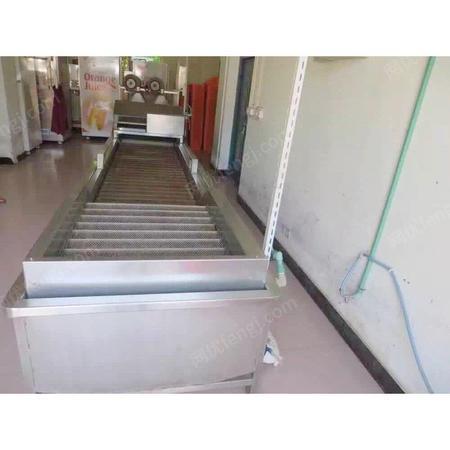 浙江金华出售1台闲置8成新泡沫+毛刷果蔬清洗机 出售价28000元