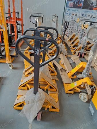 供应临沂诺力西林3吨外宽550/685手动液压叉车/聚氨酯静音脚轮地牛油压车
