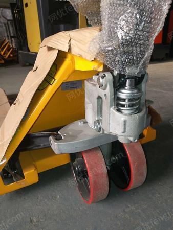 供应威海诺力西林2吨电子称搬运车/带打印称重手动液压车/地牛托盘叉车